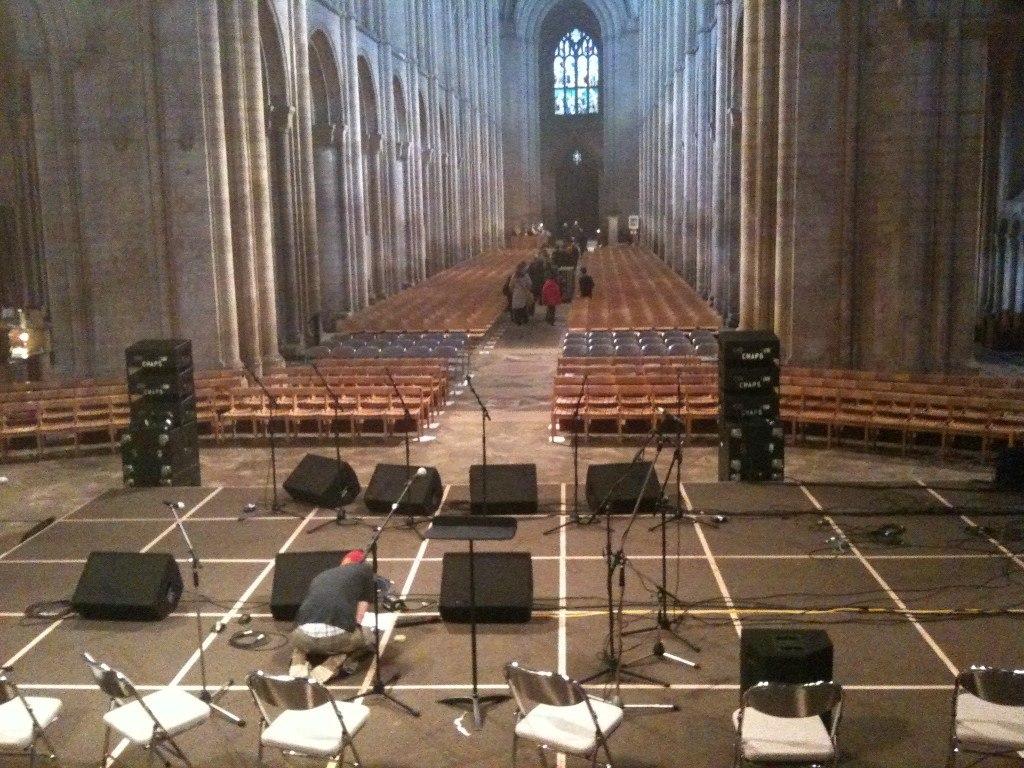 Sound system in church